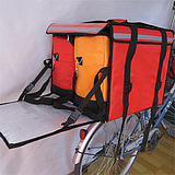 "PK-82D:Food Delivery Box for Scooter with 2 Hot Bags, Side Loading, Zipper Closure, 18"" L x 18"" W x 16"" H"