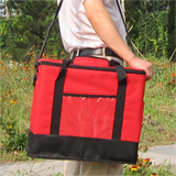 "PK-30A:Insulated Delivery Bag with Hard Frame, Top Loading, 2-way Zipper Closure, 16"" L x 9"" W x 13"" H"