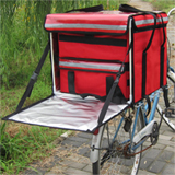 "PK-82E:Pizza Delivery Boxes for Scooter with Small Bags,Side Loading,Zipper Closure, 18"" L x 18"" W x 16"" H"