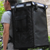 "PK-86V: Large Utility Delivery Bag, Thermal Pizza Backpack, Top Loading, 16"" L x 13"" W x 24"" H"