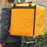 "PK-76Y: Food Bag for Rider, Pizza Delivery Equipment, Heat Insulated Thermal Bag, 16"" L x 15"" W x 18"" H"