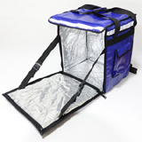 "PK-65AB: Heat Insulated Delivery Bag, Pizza Takeaway Bag, Side + Top Loading, 16"" L x 12"" W x 18"" H"
