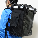 "PK-33B: Drinking Delivery Backpack, Hot Food Bag,Side Loading,Zipper Closure, 13"" L x 9"" W x 18"" H"