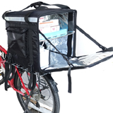 PK-92Z: Food Delivery Bag for Scooter with Divider, 16 Inch Pizza Delivery Box, 17