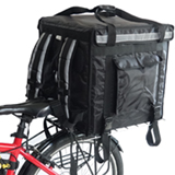 "PK-92V: Large Rigid Heavy Duty Food Delivery Box for Motorcycle, Top Open, 18"" L x 18"" W x 18"" H"