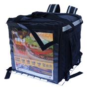 PK-92DIY: Big Motorcycle Food Delivery Box with Metal Rack and 1 Transparent Plastic Cover for Logo DIY